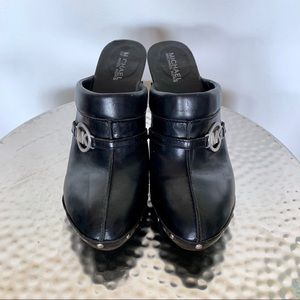 MICHAEL Michael Kors studded leather clogs 9 #351